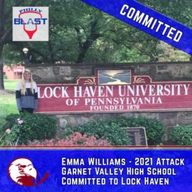 Emma Williams (2021) makes verbal to Lock Haven!